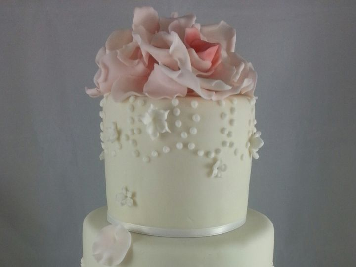 Tmx 1381636284453 Flower Baptism Cake Astoria, New York wedding cake
