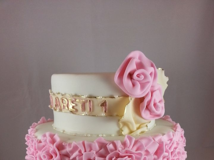 Tmx 1381636374342 Rosettes Cake Astoria, New York wedding cake