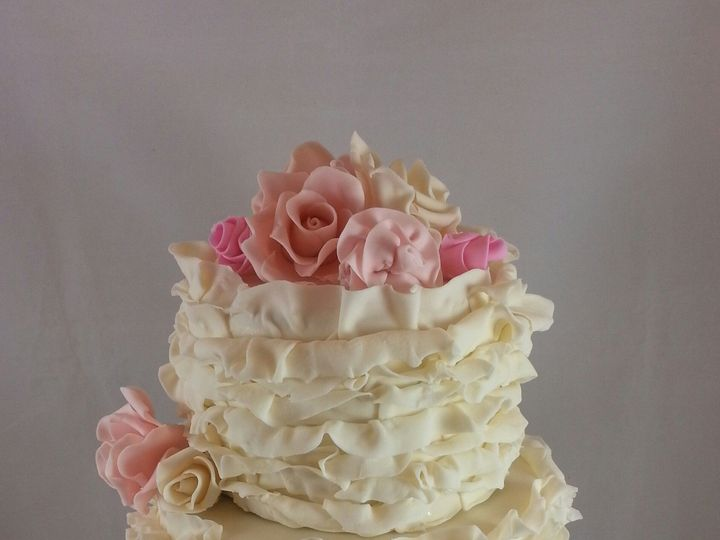 Tmx 1414168010510 Ruffle Cake 1 Astoria, New York wedding cake