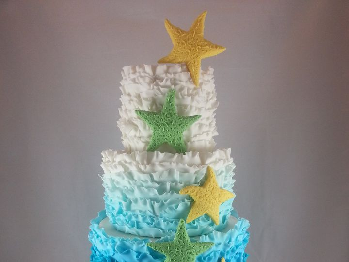 Tmx 1432042420588 Beach Cake Astoria, New York wedding cake
