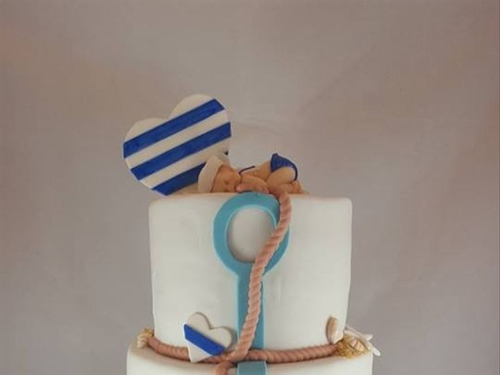 Tmx 1469464886732 Nautical Baby Shower Cake Astoria, New York wedding cake