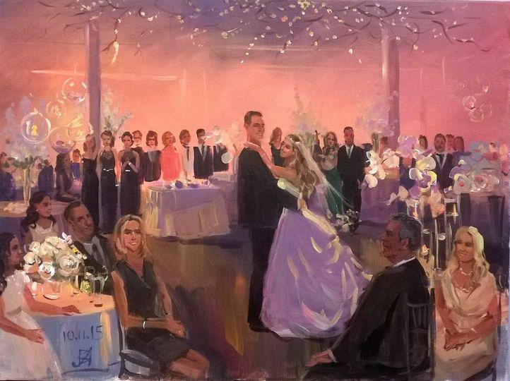 Wedding painting at Loading dock, Stamford, CT.