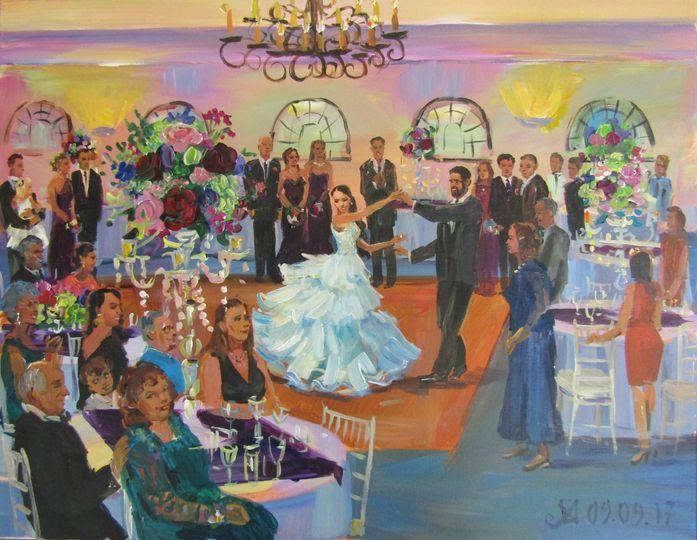 wedding painting at sea view dennisport ma