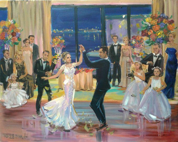 wedding painting at seaport hotel boston ma sm