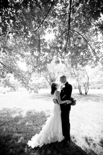 Chiffon wedding gown