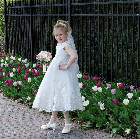 Communion dress from gown