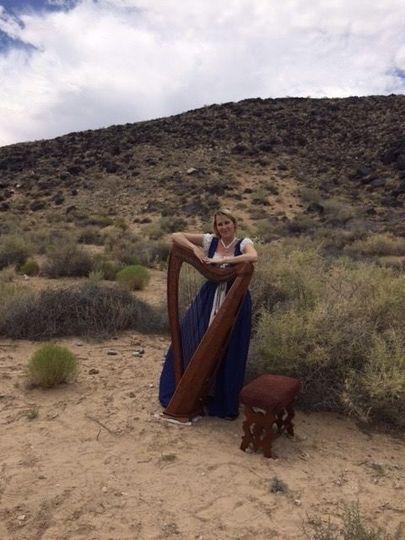 Harpist in Costume!