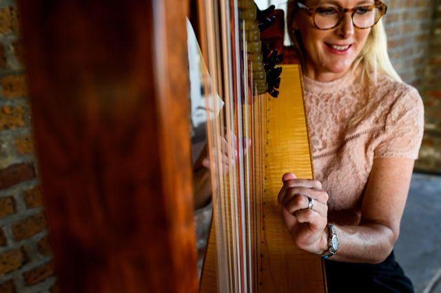 Harpist Kim Perkins