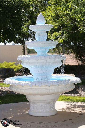 4 tiered fountain