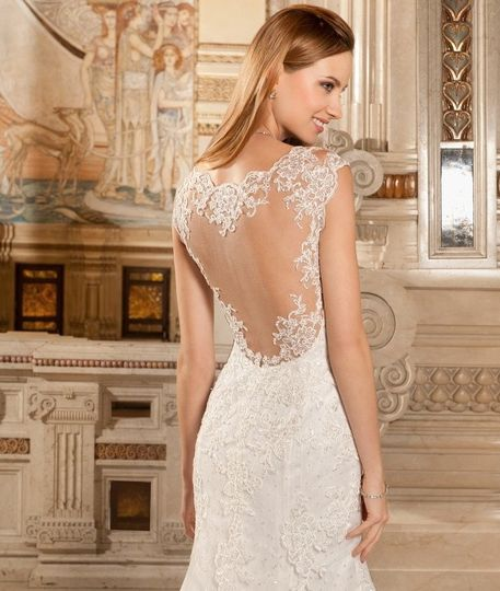 Backless dress with lace detail