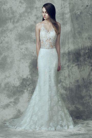 Trumpet style lace dress