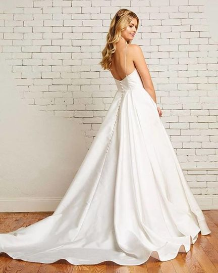 Elegant white gown