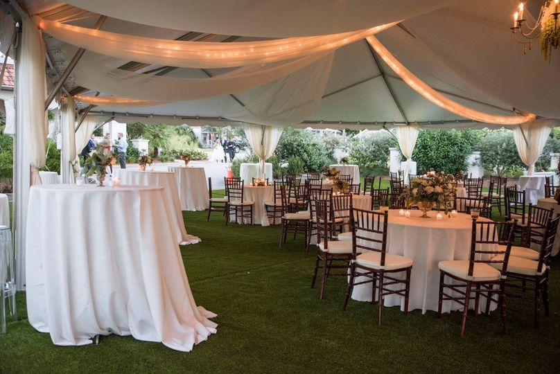 Draping, Lighting and Chairs