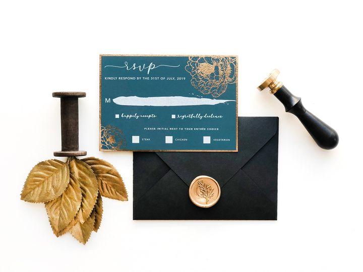 Tmx Black And Blue Rsvp 51 1873779 1572376623 Yorba Linda, CA wedding invitation