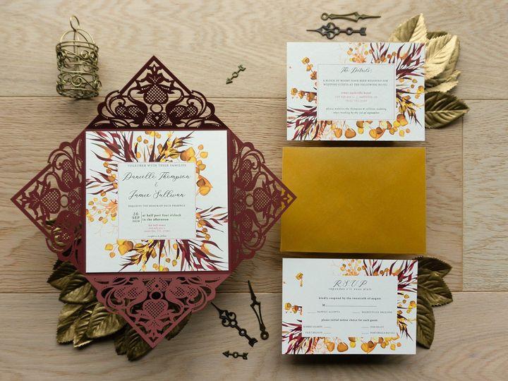 Tmx Golden Fall Maroon Petal Fold Bundle 51 1873779 1567700152 Yorba Linda, CA wedding invitation