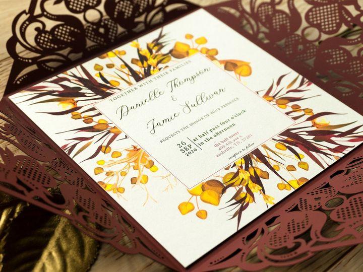 Tmx Golden Fall Petal Fold Close Up 51 1873779 1567700151 Yorba Linda, CA wedding invitation