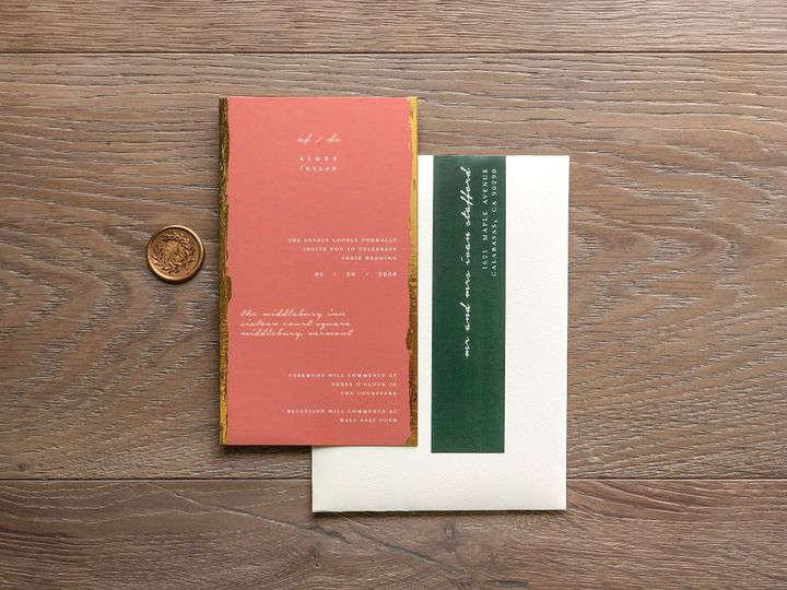 Tmx Invitation W Envelope 51 1873779 157807072140533 Yorba Linda, CA wedding invitation