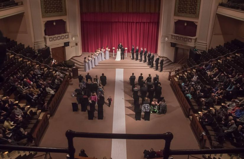 Ceremony from above