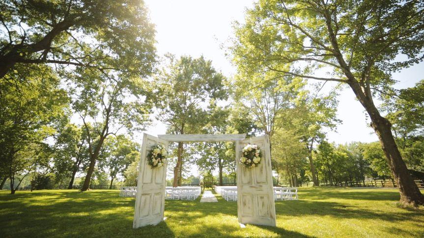 kentucky farm wedding wood doors