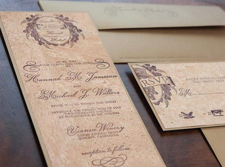 sonoma luxury letterpress wedding invitation hero