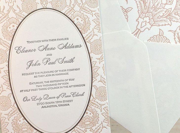 hannah luxury letterpress wedding invitation hero