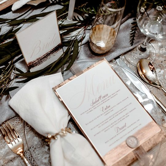 romantic rose blush grey gold spring wedding inspi