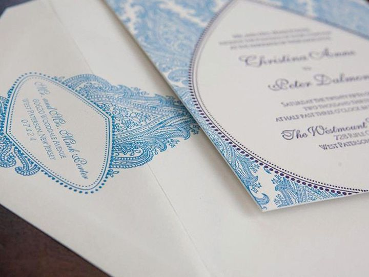 Tmx 1501779509038 Morocco Luxury Letterpress Wedding Invitation Hero Canton wedding invitation