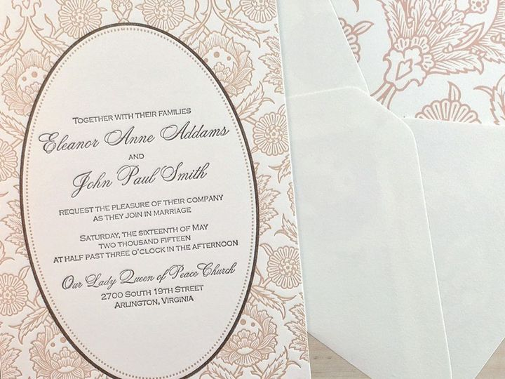 Tmx 1501779522558 Hannah Luxury Letterpress Wedding Invitation Hero  Canton wedding invitation