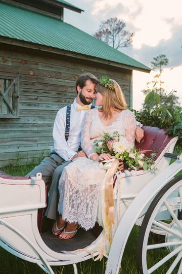 Couple in a carriage