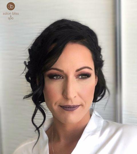 Mauve makeup look