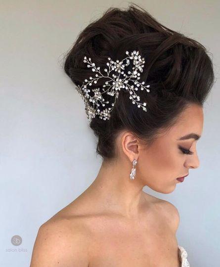 Stunning bridal hair and makeup