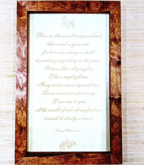 Engraved verses & quotes