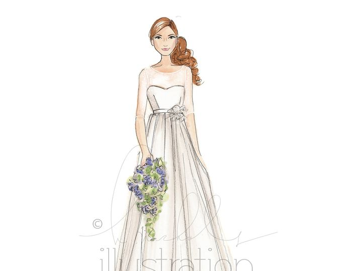 Tmx 1414512386727 Jenny Yoo Bridal Illustration Boston, MA wedding dress