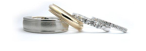 Ladies and Mens Wedding BandsMany Different Stlyes and Metals Available