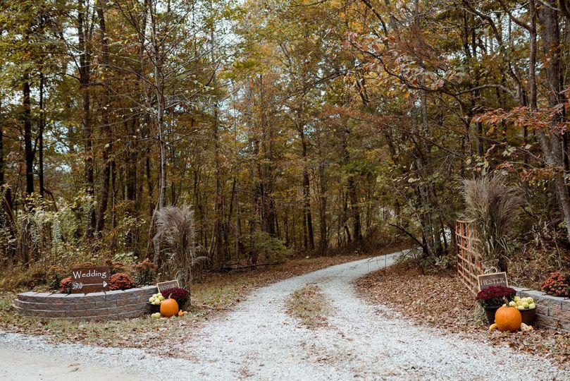 Scenic farm entrance
