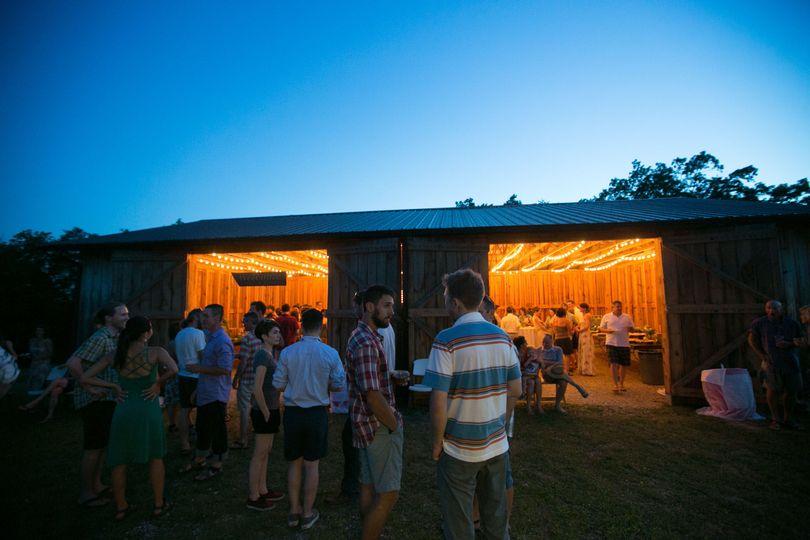 Scenic barn wedding