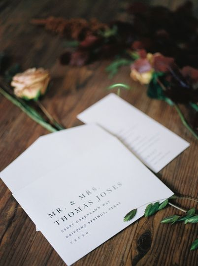 Wedding invitation and flowers