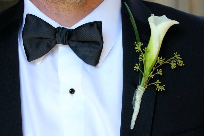 Boutonniere and bow tie