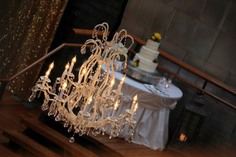 Candlelit chandelier