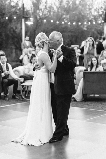 Father and bride dancing