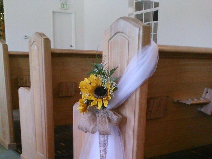 Tmx 1440939501436 Chruch Pew Swag With Sunflower Waynesville, MO wedding planner