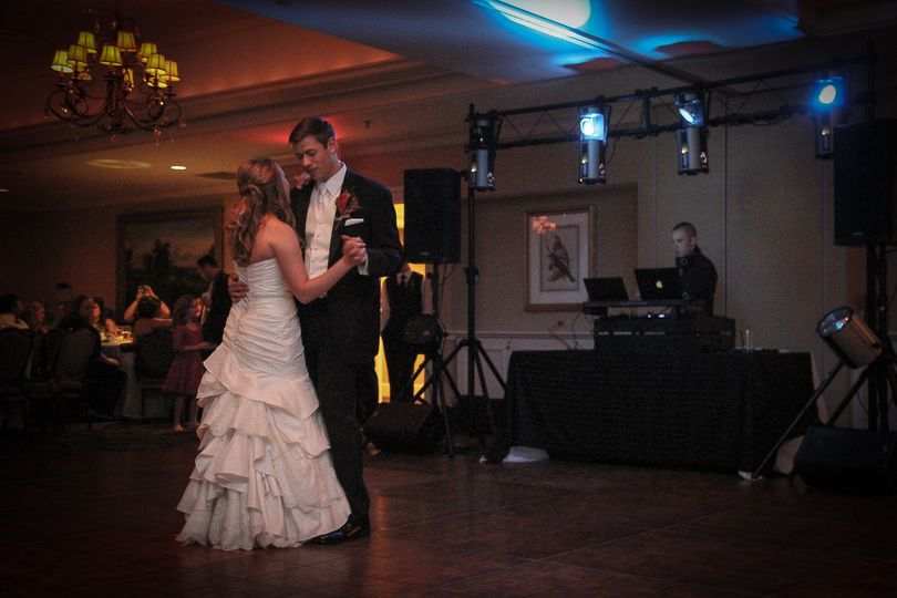 Couple first dance