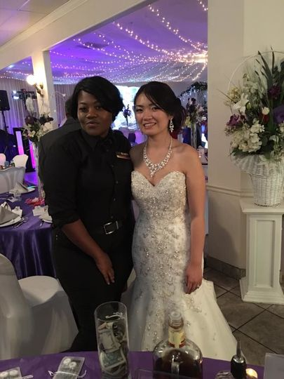 The bride and the staff