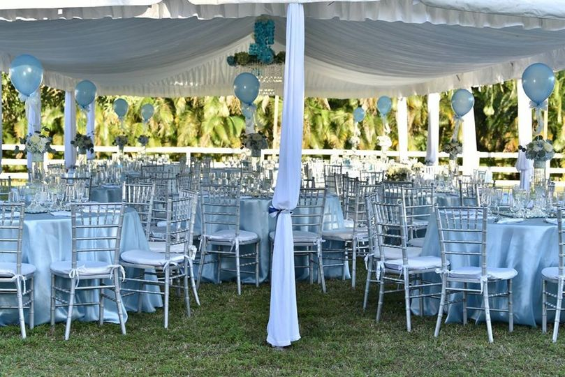 Tent covering for outdoor celebration