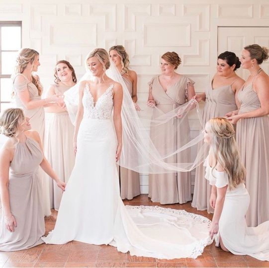 The bride & her maids