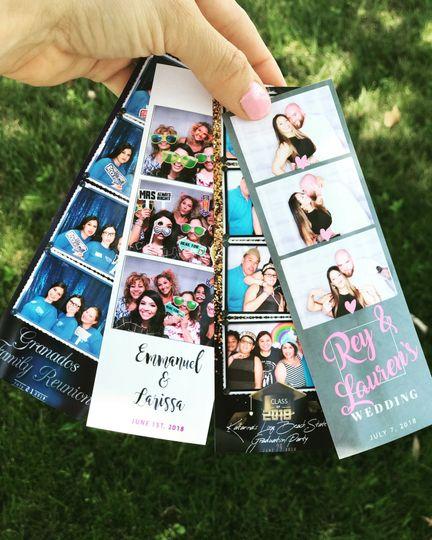 Sample photo booth prints