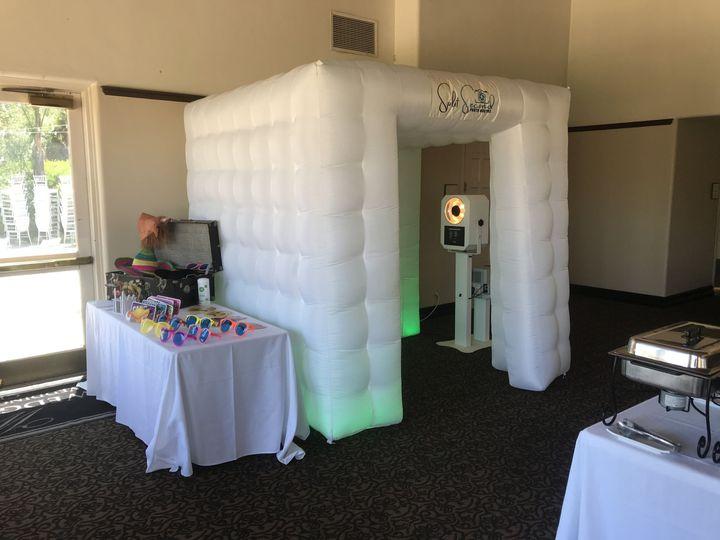 Photo booth setup