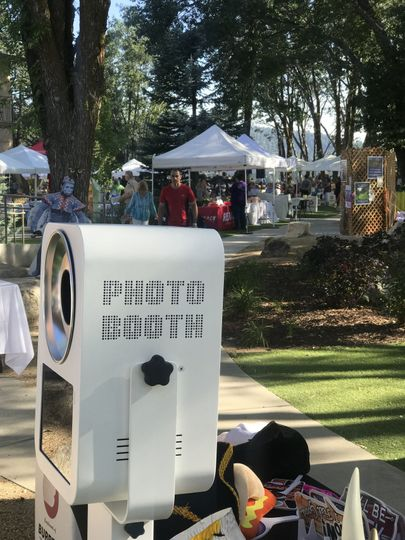 Outdoor photo booth setup