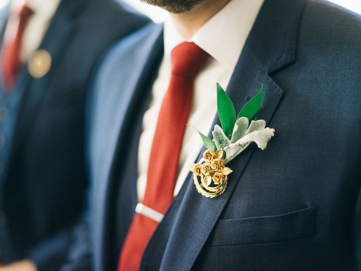 Vintage broaches by B+B  Florals by JS Events Photos by Sean Cook Wedding