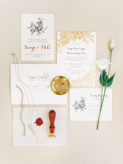 Stationary suite by B+B  Printed by Minted